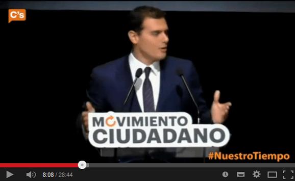 Albert Rivera en el Acto Inaugural del Movimimento Ciudadanos
